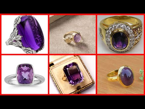 Beautiful and Stylish Amethyst Gemstones Rings Style And  Ideas