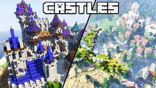 How to Build an Awesome Castle in Minecraft 1.13 : CASTLE CONTEST RESULTS