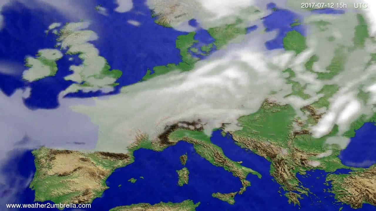 Cloud forecast Europe 2017-07-10