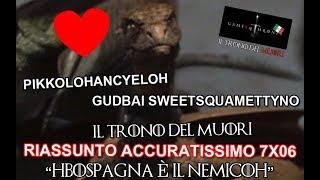 """GAME OF THRONES RIASSUNTO ACCURATISSIMO DELLA SESTA PUNTATA STAGIONE 7 DE """"IL TRONO DI SPADE"""" """"DEATH..."""