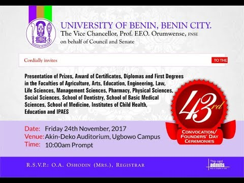 43rd Convocation Ceremony : 2017 Convocation