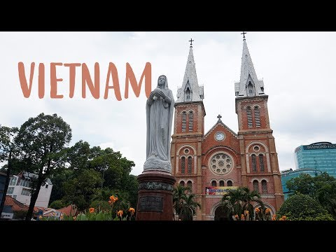 Vietnam Tour: Notre Dame Cathedral, Post Office, and Temples