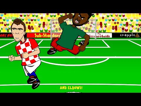 🇧🇷ALEX SONG'S ELBOW Cameroon Vs Croatia 0-4🇧🇷 By 442oons (World Cup Cartoon 18.6.14)