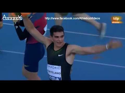 Bruno Hortelano and Oscar Husillos sub 45 both and NR, Madrid 2018