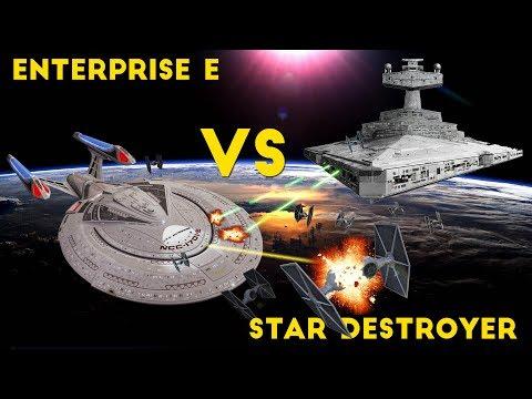 Imperial Star Destroyer VS the Enterprise E PART 1