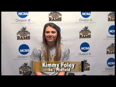 Kimmy Foley- Women's Lacrosse- Framingham State Athlete of the Week- 4/10/16