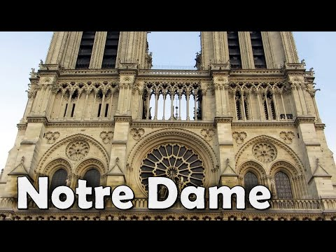 Notre Dame de Paris Cathedral exterior, seen from different angles