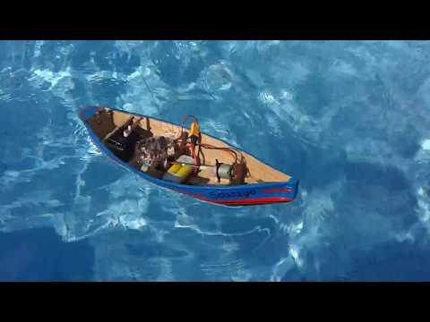 Barco de pesca Rc, teste de lastro