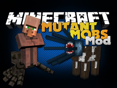 Minecraft - MUTANT MOBS MODS - THE FUSION OF MOBS
