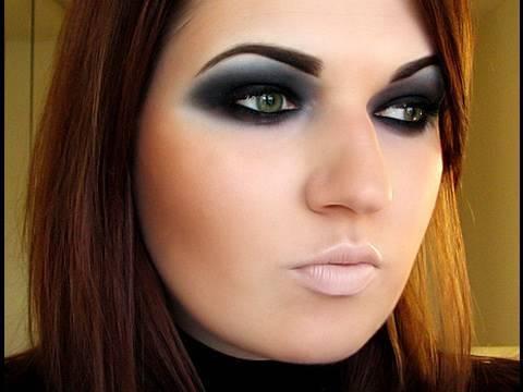 Androgynous Dark Eyes Makeup + eyebrows tut