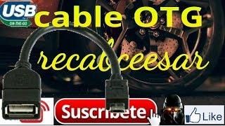 Como hacer un cable OTG casero fácil