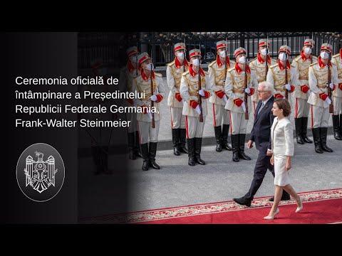 Președintele Republicii Moldova, Maia Sandu, l-a întâmpinat la Chișinău pe Președintele Republicii Federale Germania, Frank-Walter Steinmeier