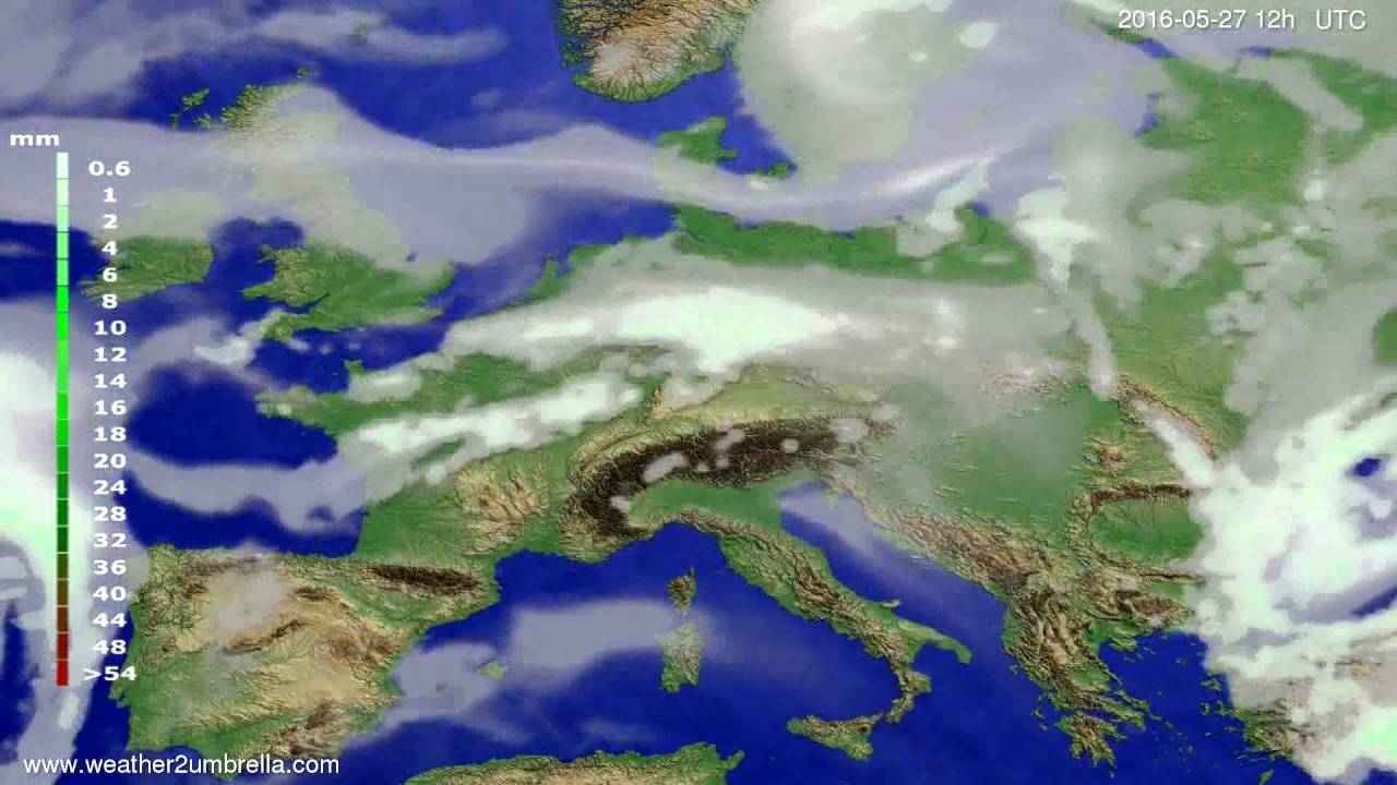 Precipitation forecast Europe 2016-05-23