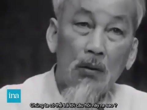 Video hiếm: Chủ tịch Hồ Chí Minh mẫn tiệp trả lời nữ nhà báo Pháp