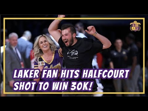 Video: Lakers Nation: Fan at Lakers vs Spurs Game Hits Halfcourt Shot to Win $30,000!