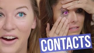 Video 5 Creepy Colored Contact Lenses for HALLOWEEN (Beauty Break) MP3, 3GP, MP4, WEBM, AVI, FLV Juni 2018