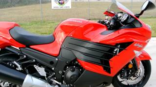 4. On Sale $11,999: 2013 Kawasaki ZX14R in Passion Red