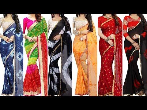 30 Latest Multicoloured Chiffon Saree with Price || Georgette Saree || Chiffon Saree || Silk Saree