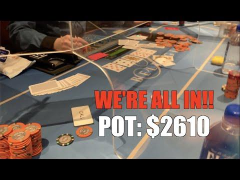 Flush Over Flush, We're Playing For Stacks!! Poker Vlog Ep 144