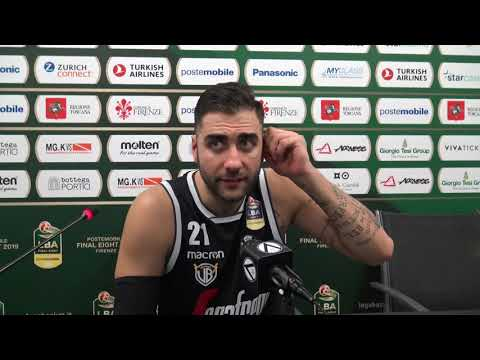 Serie A Coppa Italia 2019: Pietro Aradori post match Milano