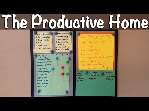 Establishing Family Routines | The Productive Home