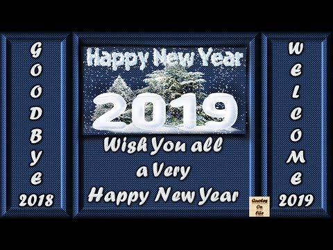 Quotes about happiness - Happy New Year 2019 wishes animated ecard greetings whatsapp status video in advance with images