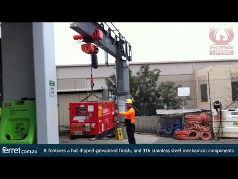 Slewing Jib Crane with Electric Chain Hoist