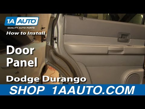 How To Install Replace Remove Rear Door Panel Dodge Durango 04-09 1AAuto.com