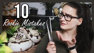 TOP 10 ROOKIE MISTAKES (Snake owners) by Jossers Jungle
