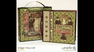 """Create this gorgeous mini album and co ordinated case for the master detective in your life lol! Both have been altered in papers from the Master Detective collection by Graphic 45. Follow the link below to order the PDF Tutorial for the project http://www.mycreativespirit.co.uk/master-detective-mini-album-and-case-1107-p.aspThe 8 1/4"""" x 8 1/4"""" Shadow Box and Album Cover Set http://www.mycreativespirit.co.uk/8-14-x-8-14-shadow-box-and-square-album-cover-set-1114-p.aspBlack Construction Tapehttp://www.mycreativespirit.co.uk/construction-tape-534-p.asp Have fun if you make the project yourself :-) C"""
