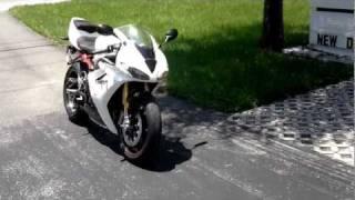 10. 2011 Triumph Daytona 675R White Euro Cycles of Tampa