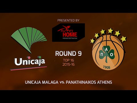 Highlights: Top 16, Round 9, Unicaja Malaga 58-76 Panathinaikos Athens