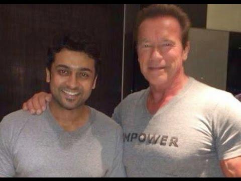 Actor Surya Meets Arnold Schwarzenegger At Chennai | Jayalalithaa | i Movie Audio Launch