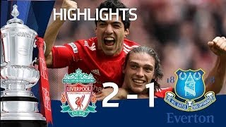 Liverpool 2-1 Everton - Jelavic, Suarez&Carroll Goals And Official Highlights | FA Cup 15-04-12