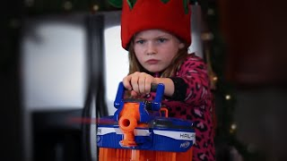 "Today Goober Media Brings to you ""Christmas Nerf War."" In this Nerf War, a girl unwraps an unexpected present. She arms herself with a Nerf gun in order to survive. Enjoy and have a Merry Christmas!Social media links:Twitter:https://twitter.com/annakouskyInstagram:  http://instagram.com/annakouskyGoogle Plus:https://plus.google.com/u/0/+AnnaKousky/posts/HoevMPHZQQcMy Other Channel: www.youtube.com/user/AnnaKouskyIf you read all of this - like the video then comment ""Christmas at Goober Nation!"" and I will like your comment and reply. It'll be like a nice lil inside joke if ya know what I mean"