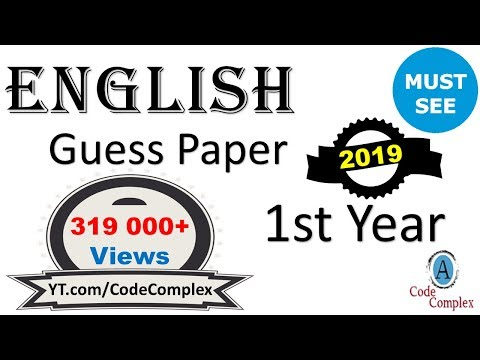 Video English Guess Paper 2018 - English 1st year 2018 - English Guess Paper 2018 1st year download in MP3, 3GP, MP4, WEBM, AVI, FLV January 2017