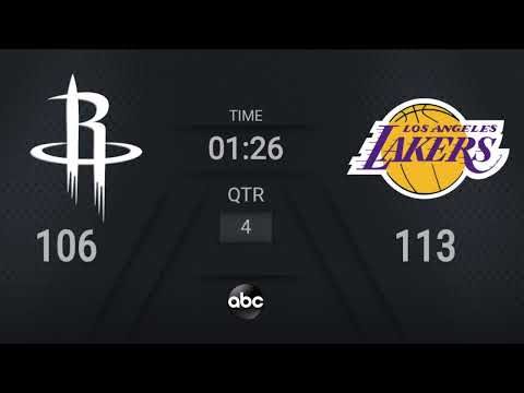 Rockets @ Lakers | NBA on ABC Live Scoreboard | #WholeNewGame