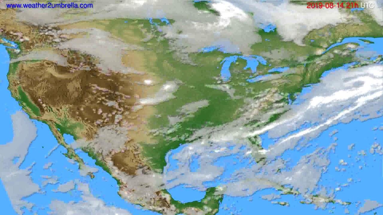 Cloud forecast USA & Canada // modelrun: 00h UTC 2019-08-13