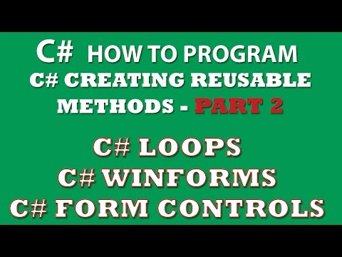 C# Exercise: Creating C# methods for reuse between different C# apps (Winforms, Console app) – Part 2