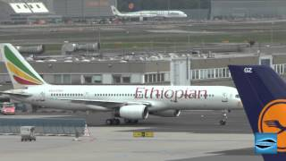 Ethiopian Airlines B757-200 Landing And Roll To The Gate