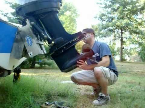 1976 Mercury 1150 Tower of Power Dis Part 4- Lower Unit Removal