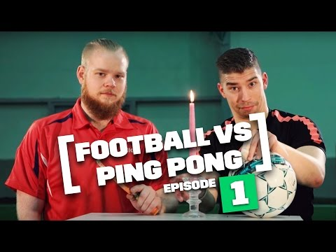 Amazing! Ping Pong Ball vs Soccer Ball Tricks!