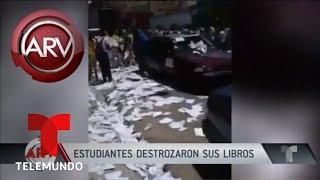 Chicos rompieron libros escolares por fin de año escolar | Al Rojo Vivo