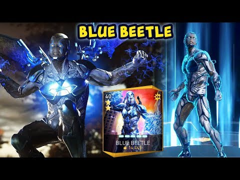 Injustice 2 Mobile. Blue Beetle Gameplay + Review. Best Character In The Update?
