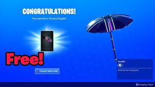 How to get VICTORY ROYALE umbrella without winning in fortnite (Free Glider X)