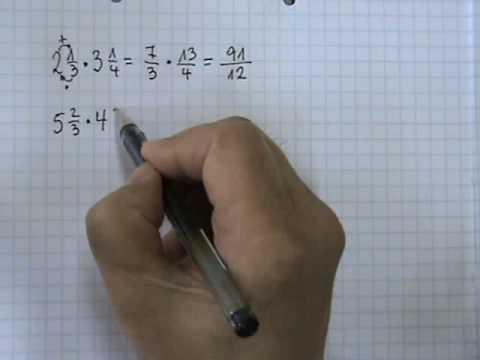 Vídeos Educativos.,Vídeos:Multiplicar números mixtos 2