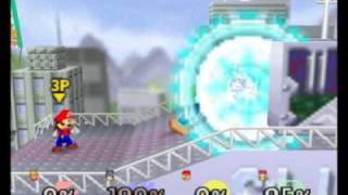 This guy makes a Spirit Bomb in Super Smash Bros. 64