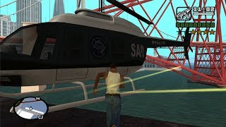 Video GTA San Andreas - How get the Police Maverick at the very beginning of the game MP3, 3GP, MP4, WEBM, AVI, FLV Maret 2019