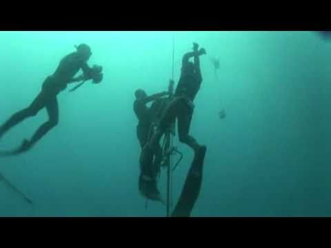 Herbert Nitsch world record apnea no limit : – 214m !