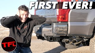 Too Loud or Not Enough? World's First 7.3L Godzilla V8 Cat Back Exhaust Mod! by The Fast Lane Truck